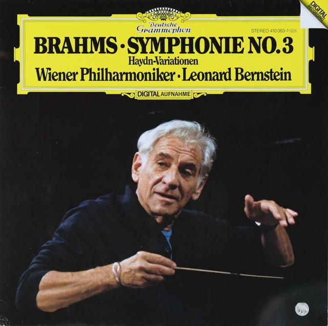バーンスタインのブラームス/交響曲第3番 独DGG 2740 LP レコード