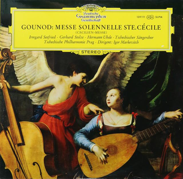 マルケヴィチのグノー/聖チェチーリア荘厳ミサ曲 独DGG 2740 LP レコード