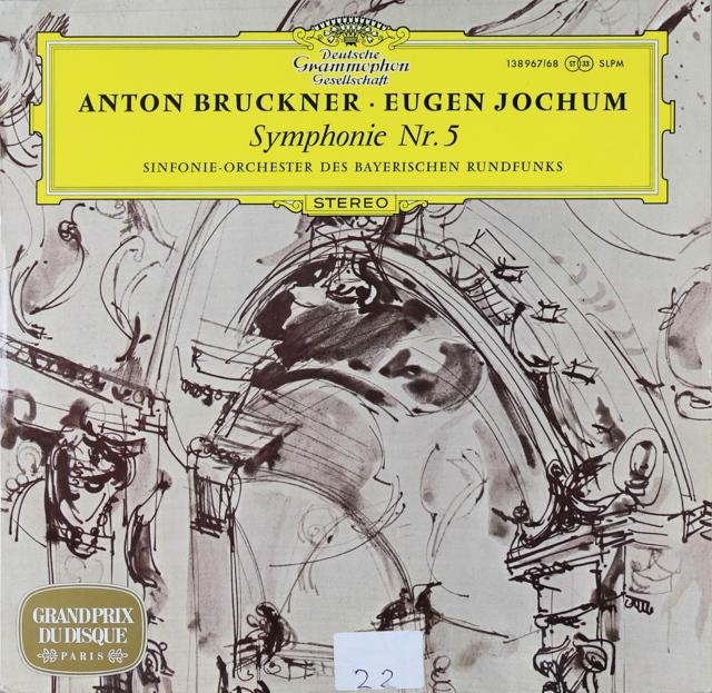 ヨッフムのブルックナー/交響曲第5番 独DGG 3288 LP レコード