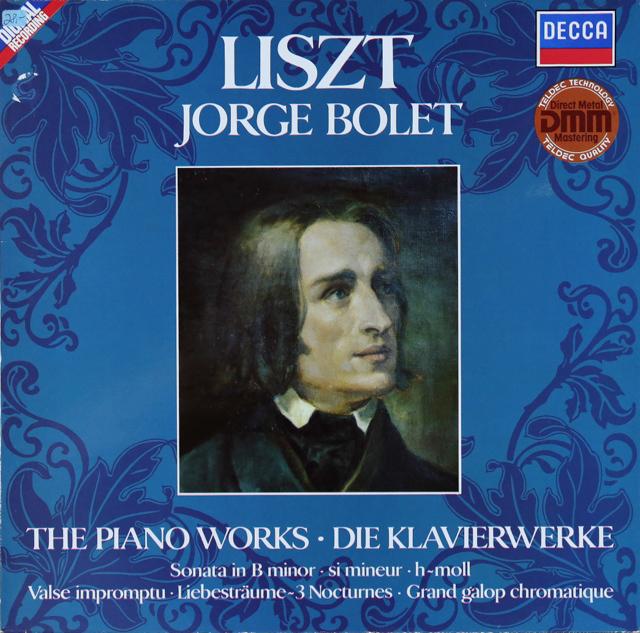 ボレットのリスト/ピアノ作品集 独DECCA 2743 LP レコード