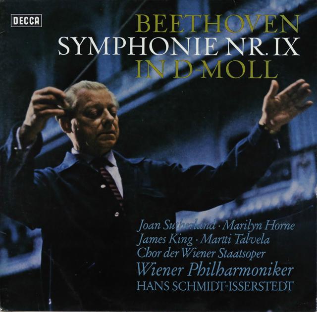 イッセルシュテットのベートーヴェン/交響曲第9番「合唱付き」 独DECCA 3288 LP レコード