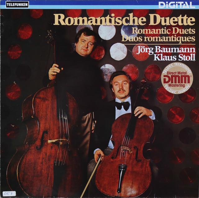 バウマン&シュトゥールのチェロとコントラバスのための作品集 独TELEFUNKEN 3288 LP レコード