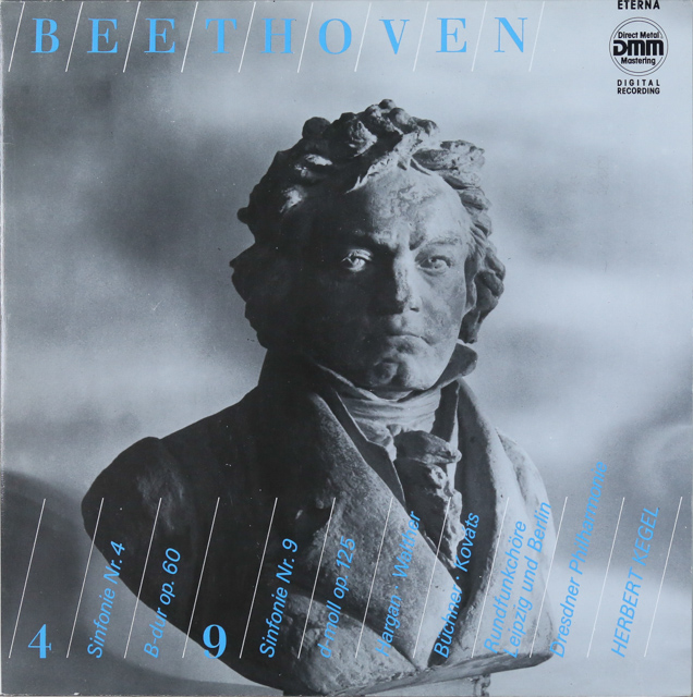 ケーゲルのベートーヴェン/交響曲第4&9番 独ETERNA 3288 LP レコード
