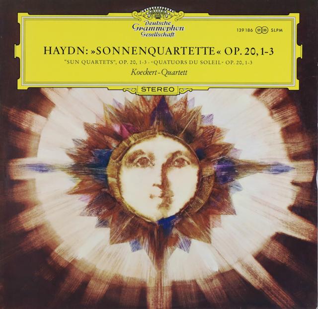 ケッケルト四重奏団のハイドン/「太陽」四重奏曲 作品20,1-3 独DGG 3287 LP レコード