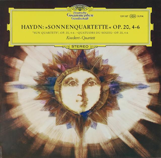 ケッケルト四重奏団のハイドン/「太陽」四重奏曲 作品20,4-6 独DGG 3287 LP レコード