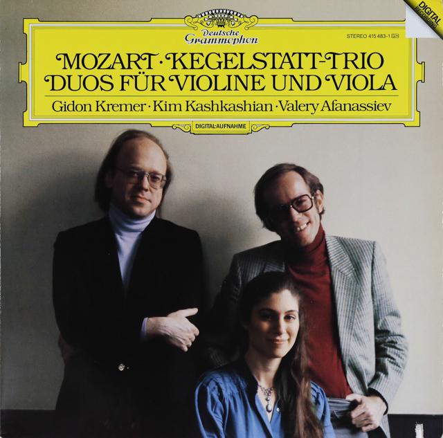 クレーメルらのモーツァルト/「ケーゲルシュタットトリオ」三重奏曲ほか 独DGG 3287 LP レコード