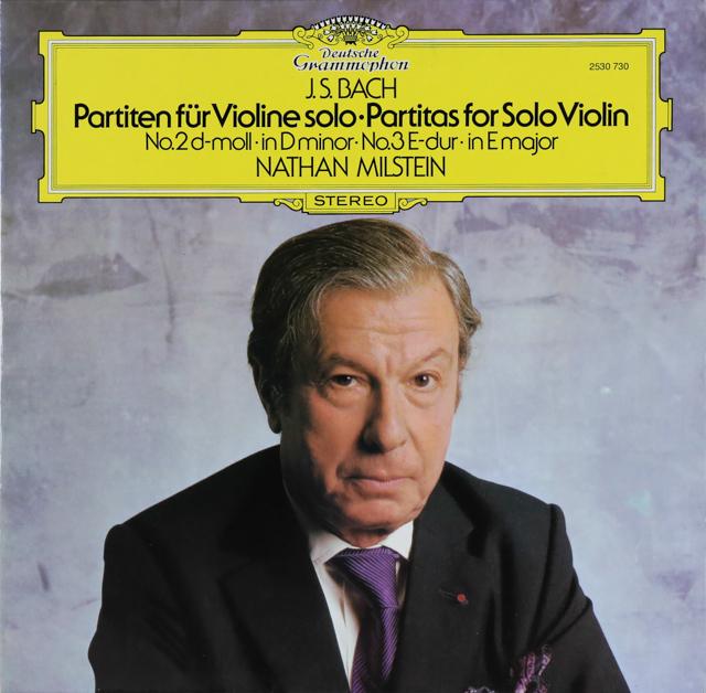 ミルシュタインのバッハ/無伴奏ヴァイオリン・パルティータ第2&3番 独DGG 2745 LP レコード