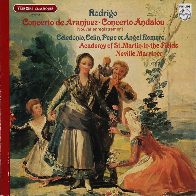 ペペ・ロメロ&マリナーのロドリーゴ/アランフェス協奏曲ほか 仏PHILIPS 3287 LP レコード