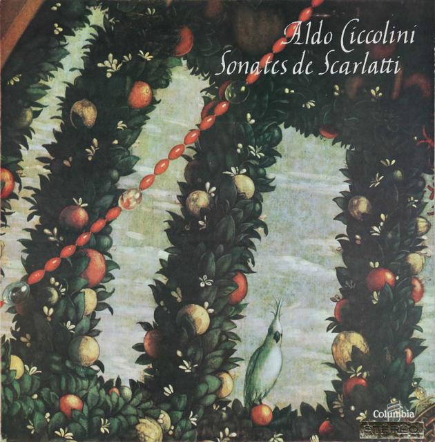 チッコリーニのスカルラッティ/ソナタ集 仏columbia 2745 LP レコード