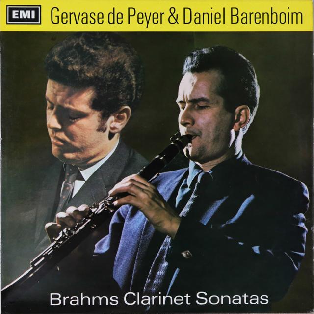 ドゥ・ペイエ&バレンボイムのブラームス/クラリネットソナタ集 英EMI 3288 LP レコード