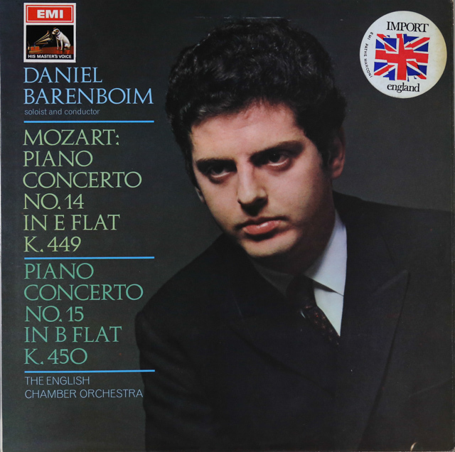 バレンボイムのモーツァルト/ピアノ協奏曲第14&15番 英EMI 3288 LP レコード