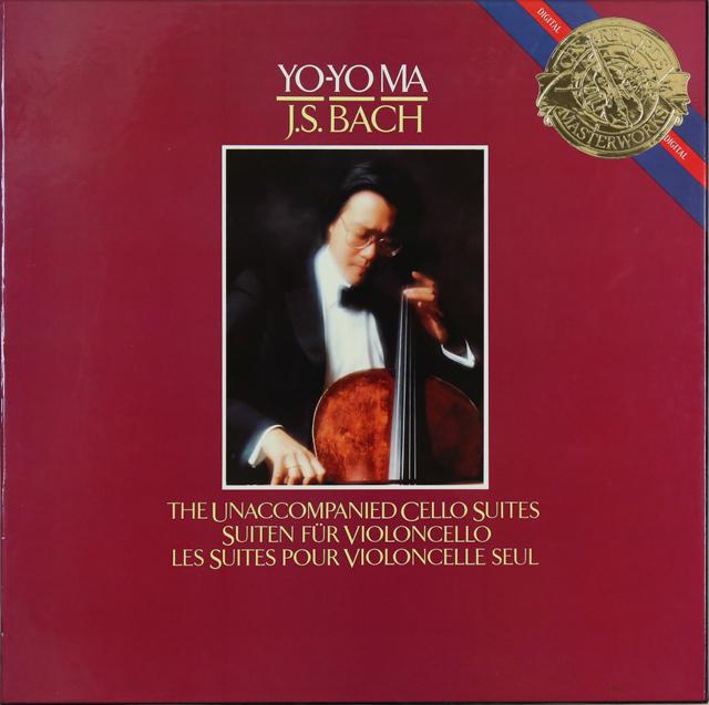 ヨーヨー・マのバッハ/無伴奏チェロ組曲(全6曲) 蘭CBS 2741 LP レコード