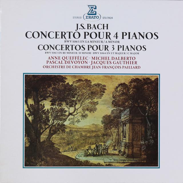 パイヤール室内管弦楽団のバッハ/4台のチェンバロのための協奏曲ほか 仏ERATO 2741 LP レコード