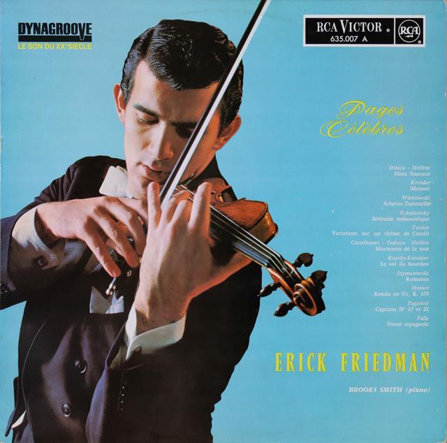 フリードマンのタルティーニ、チャイコフスキーらのヴァイオリン作品集 仏RCA 3288 LP レコード