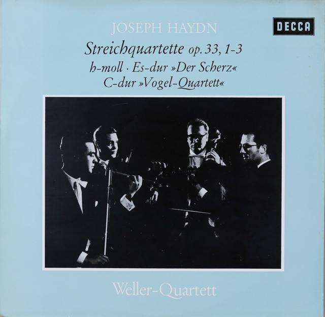ウェラー四重奏団のハイドン/弦楽四重奏曲作品33(全6曲) 独DECCA 2744 LP レコード