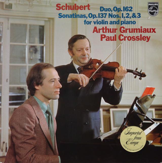 グリュミオー&クロスリーのシューベルト/ヴァイオリンソナタ集 蘭PHILIPS 3287 LP レコード