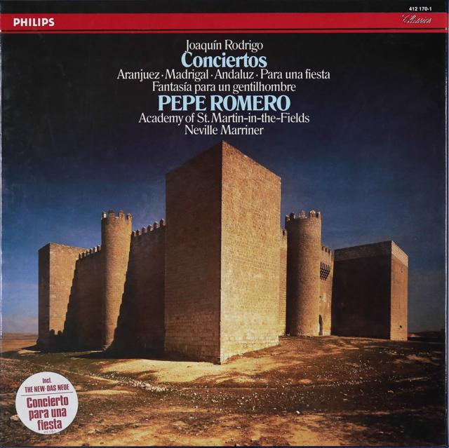 ロメロ&マリナーのロドリーゴ/ギター協奏曲集 蘭PHILIPS 3287 LP レコード