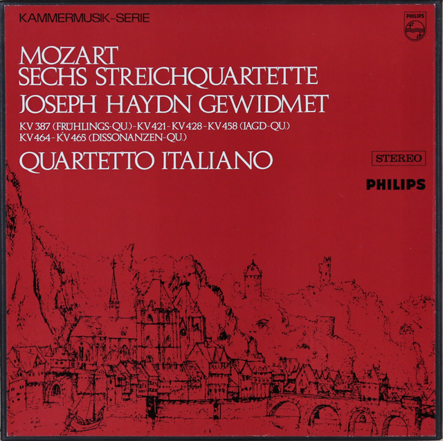 イタリア四重奏団のモーツァルト/弦楽四重奏曲「ハイドン・セット」 蘭PHILIPS 2744 LP レコード
