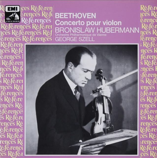 フーベルマン&セルのベートーヴェン/ヴァイオリン協奏曲 仏EMI(VSM) 3287 LP レコード