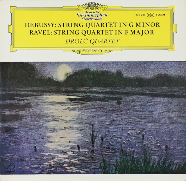 ドロルツ四重奏団のドビュッシー&ラヴェル/弦楽四重奏曲 独DGG 2744 LP レコード
