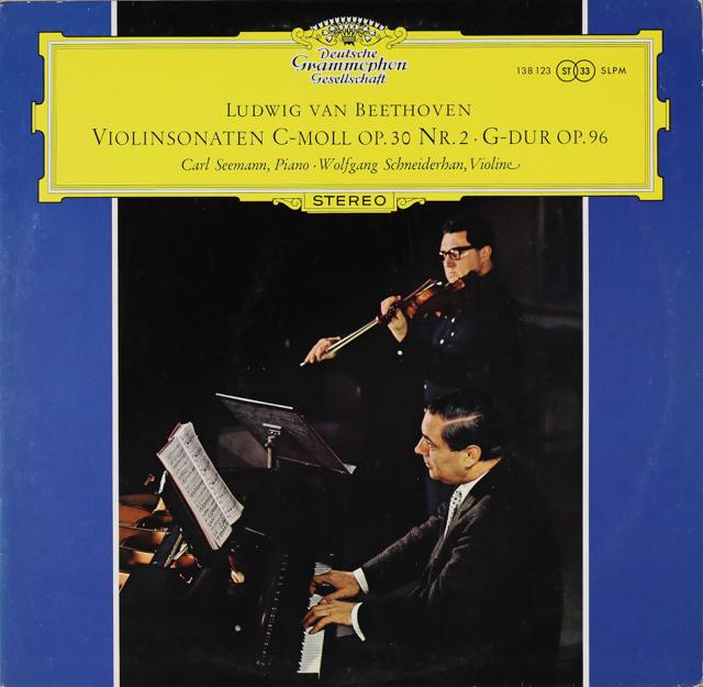 【独最初期盤】 シュナイダーハン&ゼーマンのベートーヴェン/ヴァイオリンソナタ第7&10番 独DGG 3287 LP レコード