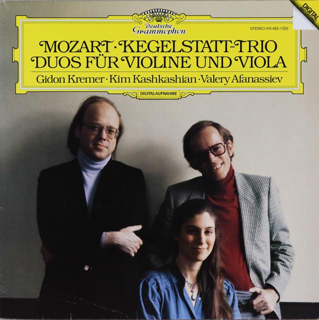 クレーメル、カシュカシアン&アファナシエフのモーツァルト/「ケーゲルシュタット」トリオほか 独DGG 2744 LP レコード