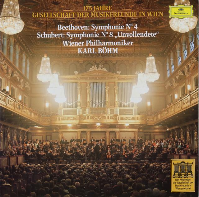 ウィーン楽友協会175周年 ベームのベートーヴェン/交響曲第4番ほか 独DGG 2744 LP レコード
