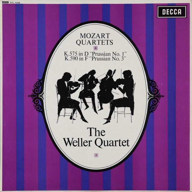ウェラー四重奏団のモーツァルト/弦楽四重奏曲第21&23番「プロシャ王」 オリジナル盤 英DECCA 2746 LP レコード