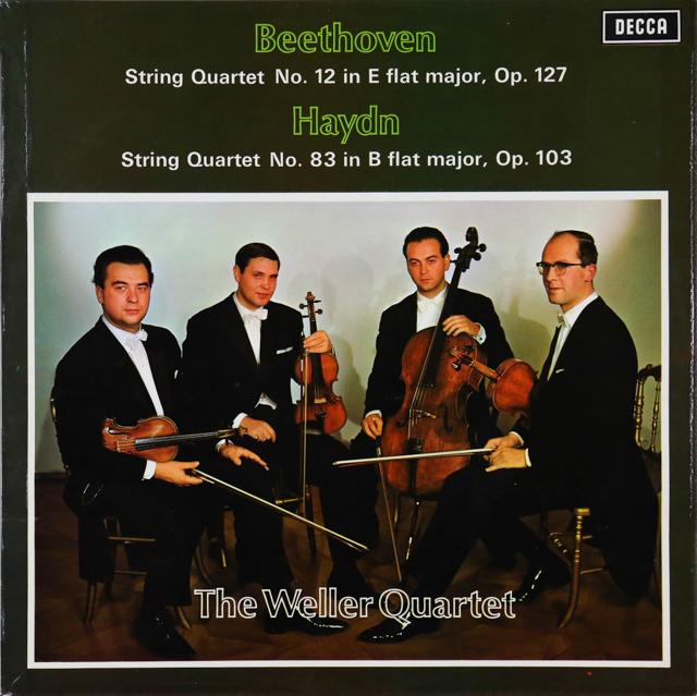 ウェラー四重奏団のベートーヴェン/弦楽四重奏曲第12番ほか オリジナル盤 英DECCA 2746 LP レコード