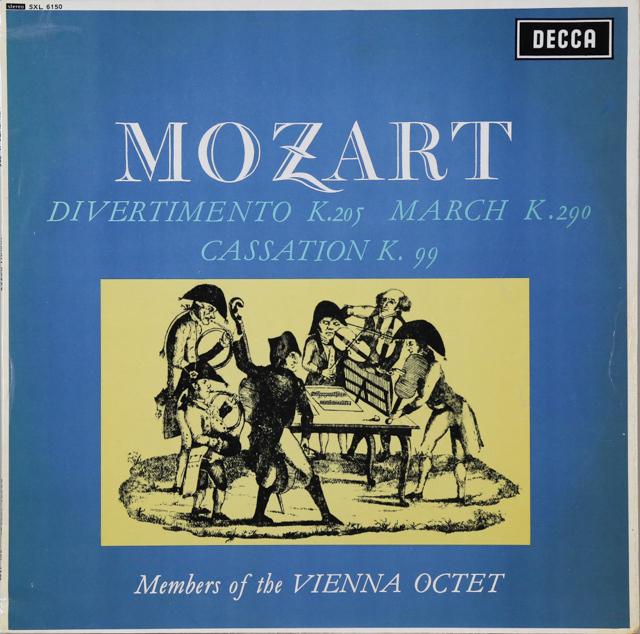 【オリジナル盤】ウィーン・オクテットのメンバーたちのモーツァルト/ディヴェルティメント第7番ほか 英DECCA 2746 LP レコード