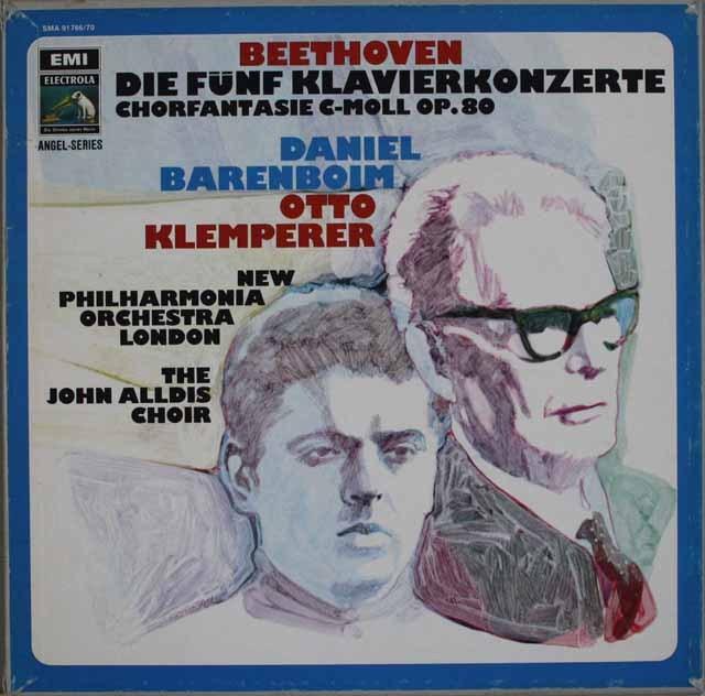 バレンボイム&クレンペラーのベートーヴェン/ピアノ協奏曲全集ほか 5LP 独EMI