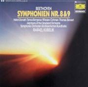 クーベリックのベートーヴェン/交響曲第8&9番 独DGG 2901 LP レコード