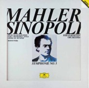 【サイン入り公演パンフレット付き】シノーポリのマーラー/交響曲第5番ほか  独DGG 3016 LP レコード