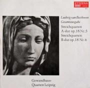 ゲヴァントハウス四重奏団のベートーヴェン/弦楽四重奏曲第5&6番 独ETERNA 3048 LP レコード
