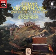 ケンペのベートーヴェン/交響曲第5番「運命」ほか 独EMI  3019 LP レコード