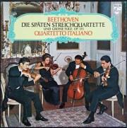 イタリア四重奏団のベートーヴェン/後期弦楽四重奏曲集 独PHILIPS 3023 LP レコード