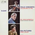 デュプレ&バルビローリのエルガー/チェロ協奏曲ほか 英EMI 2750 LP レコード