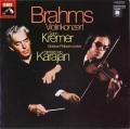 クレーメル&カラヤンのブラームス/ヴァイオリン協奏曲 独EMI 2801 LP レコード