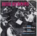 ロストロポーヴィチ&ブリテン/チェロ協奏曲(オリジナル盤) 英DECCA 2802 LP レコード