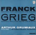 グリュミオーのフランク&グリーグ/ヴァイオリンソナタ集 蘭PHILIPS 2754 LP レコード