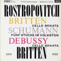 ロストロポーヴィチ&ブリテンのチェロソナタほか 英DECCA 2808 LP レコード