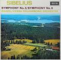 マゼールのシベリウス/交響曲第3&6番 英DECCA 2815 LP レコード