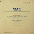 フルニエのバッハ/無伴奏チェロ組曲第1&2番 独ARCHIV 2828 LP レコード
