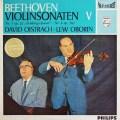 オイストラフ&オボーリンのベートーヴェン/ヴァイオリンソナタ「春」&第6番 蘭PHILIPS 2831 LP レコード