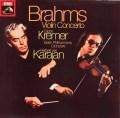 【オリジナル】クレーメル&カラヤンのブラームス/ヴァイオリン協奏曲 英EMI 2833 LP レコード