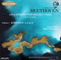 グリュミオー&ハスキルのベートーヴェン/ヴァイオリンソナタ第3,2&8番 仏PHILIPS 2840 LP レコード