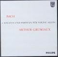 グリュミオーのバッハ/無伴奏ソナタとパルティータ 蘭PHILIPS 2818 LP レコード