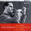 【オリジナル盤】イーゴリ・オイストラフのブラームス/ヴァイオリン・ソナタ第1&2番 英Columbia 2915 LP レコード