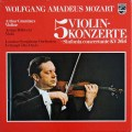 グリュミオー&デイヴィスのモーツァルト/ヴァイオリン協奏曲集 独PHILIPS 2917 LP レコード