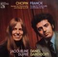 デュ・プレ&バレンボイムのショパン&フランク/チェロソナタ集 独EMI 2921 LP レコード